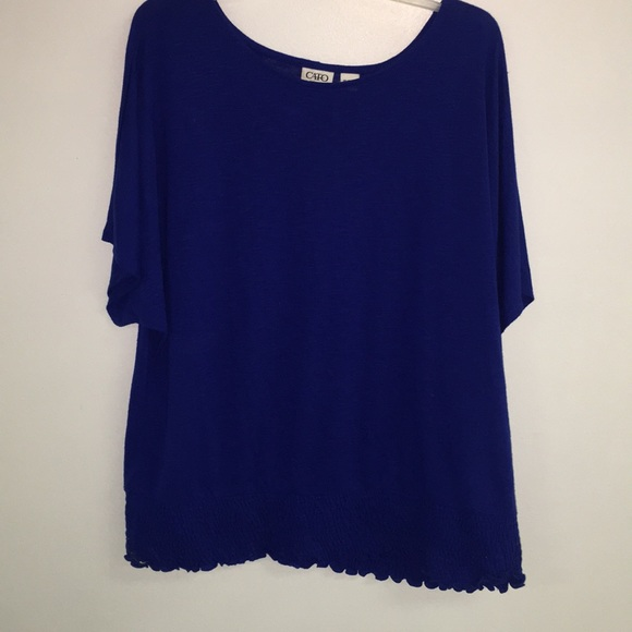 Cato Tops - Ladies Royal blue Top